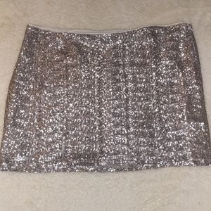 Gap size 18 Silver Sequin Mini Skirt